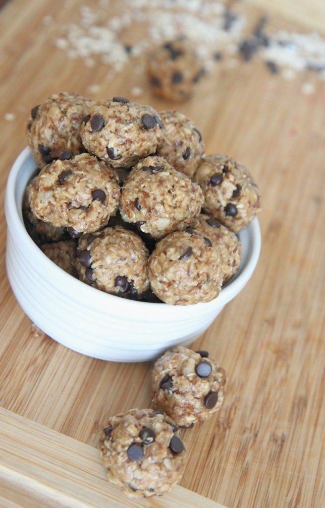 Peanut Butter Healthy Snacks  Healthy No Bake Energy Bites Recipe