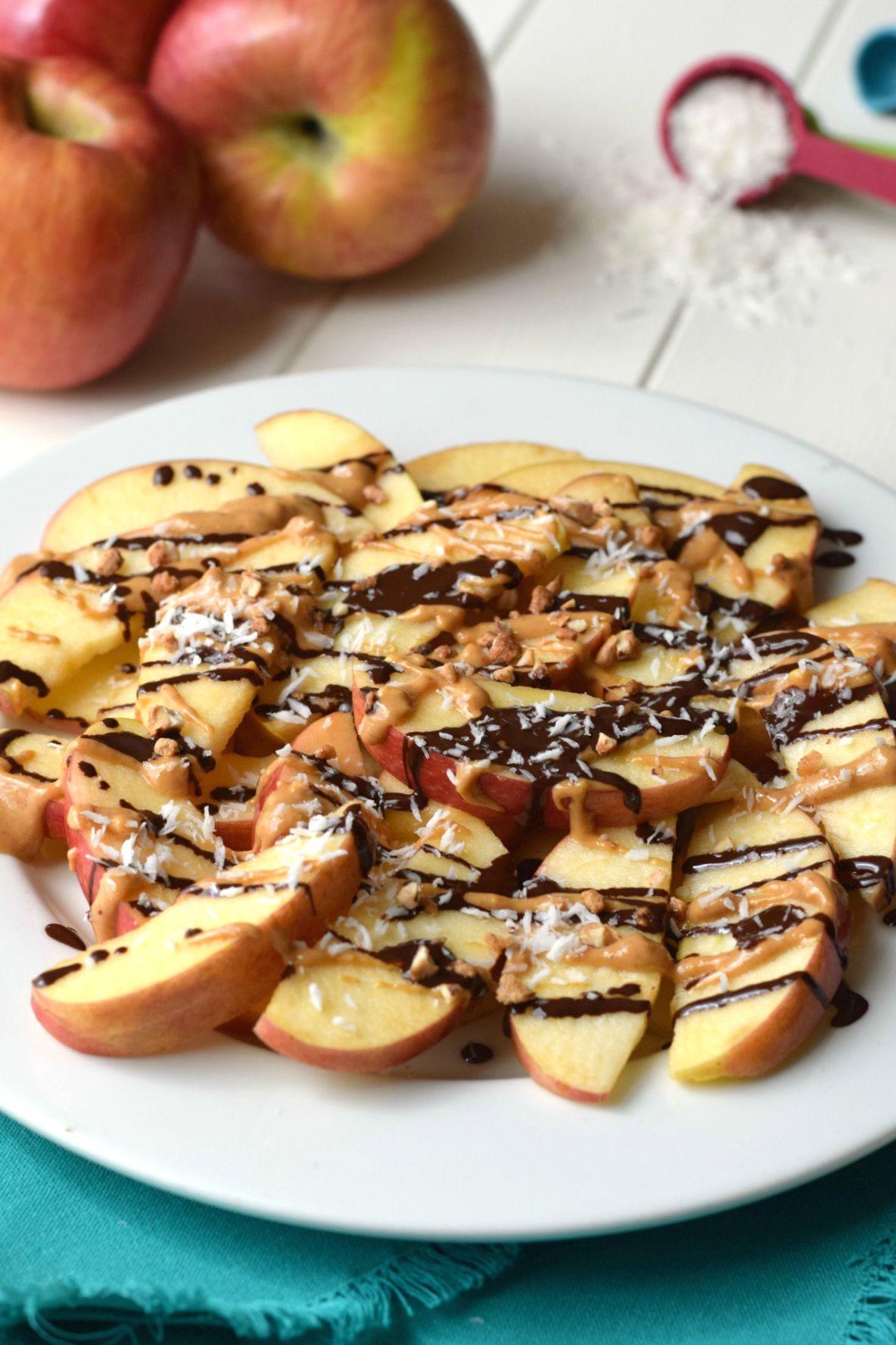 Peanut Butter Healthy Snacks  Dark Chocolate Peanut Butter Apples Feel Great in 8 Blog