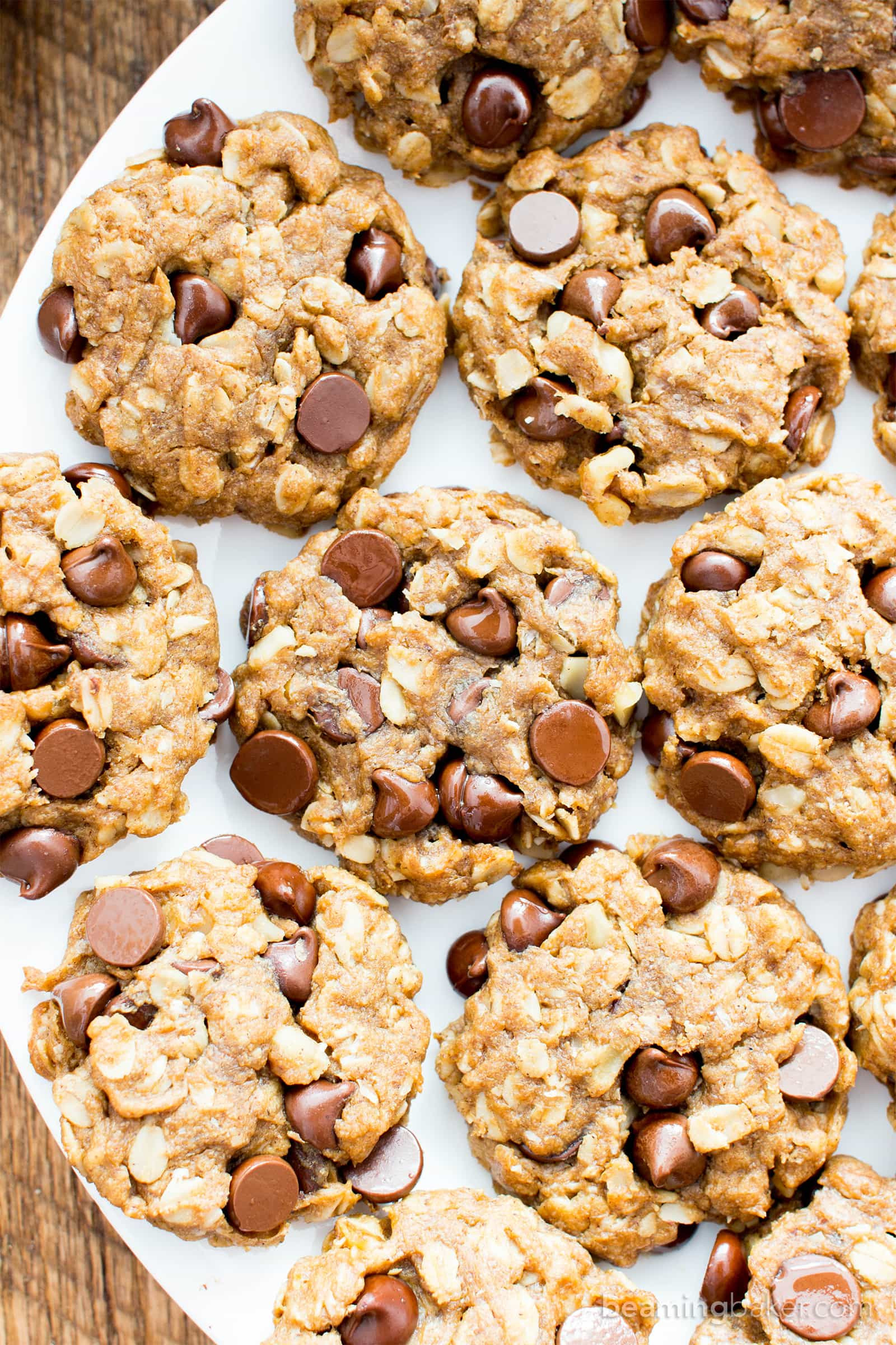 Peanut Butter Oatmeal Cookies Healthy  Easy Gluten Free Peanut Butter Chocolate Chip Oatmeal