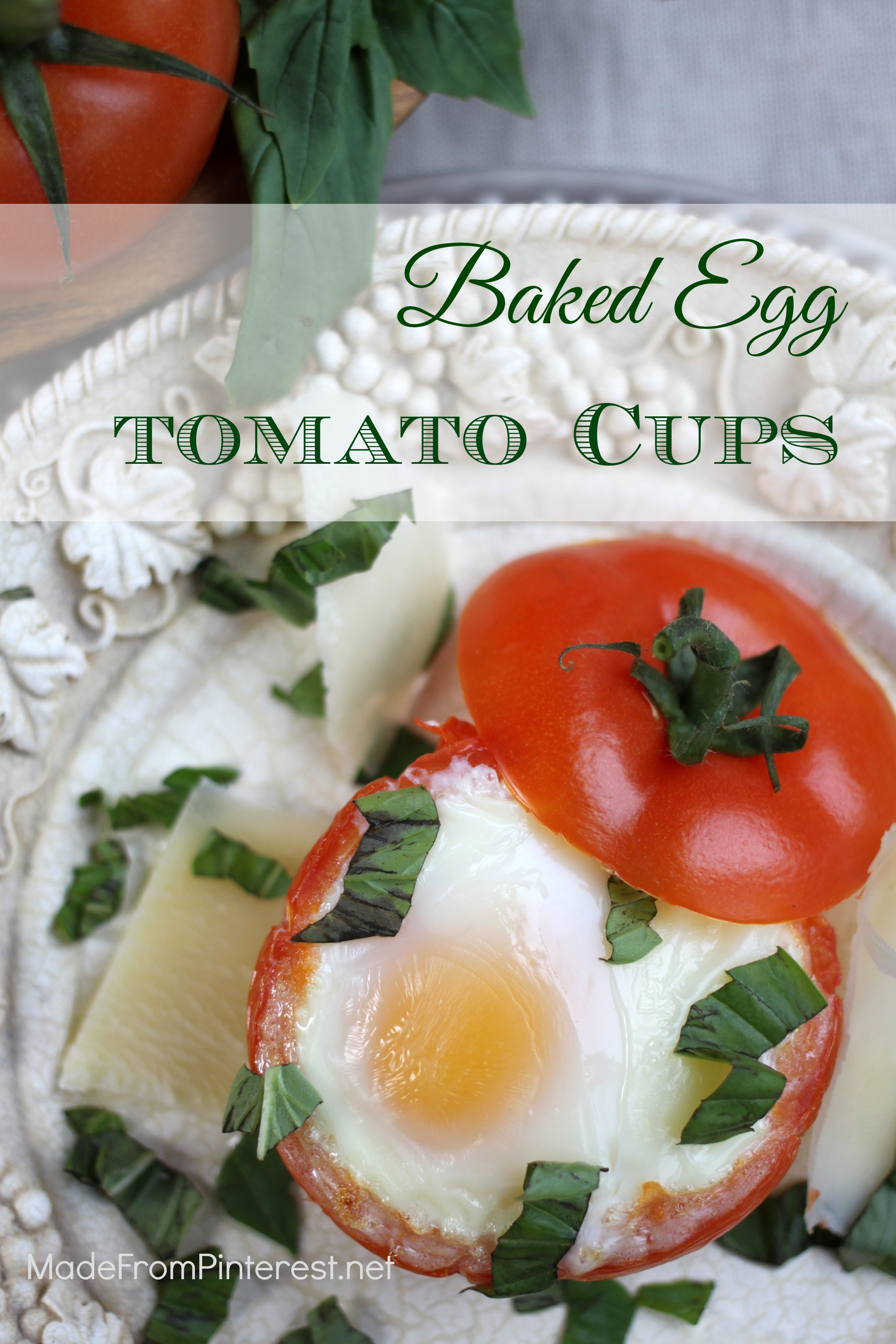 Perfect Healthy Breakfast  Baked Egg Tomato Cups TGIF This Grandma is Fun