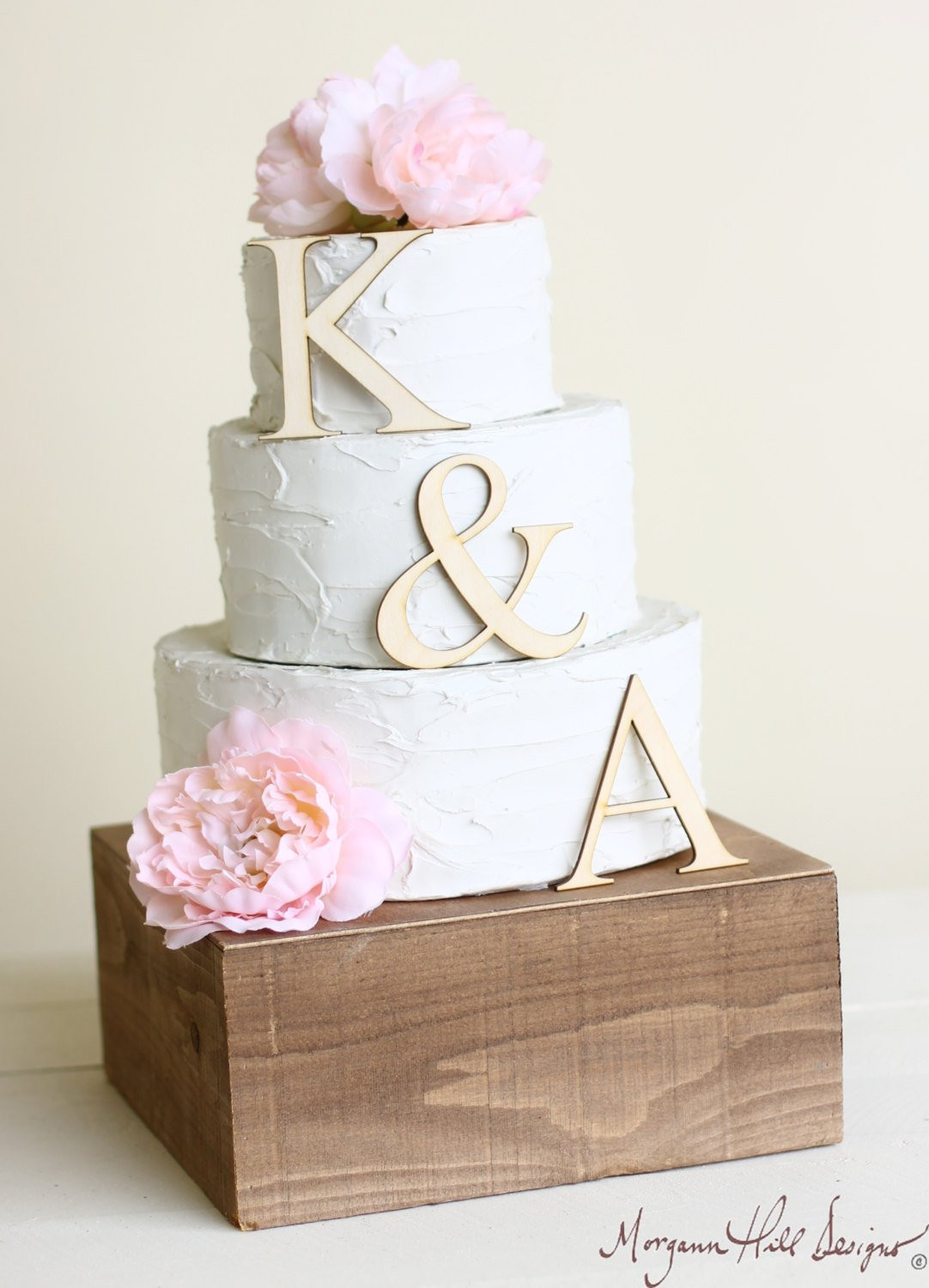 Personalized Cake Toppers For Wedding Cakes  Personalized Wedding Cake Topper Wood Initials by braggingbags