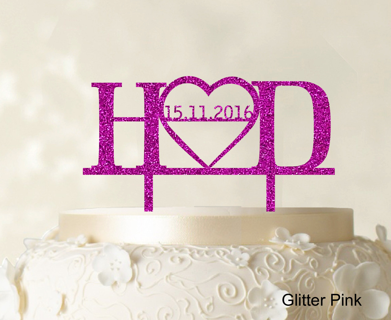 Personalized Cake Toppers For Wedding Cakes  Monogram Personalized Cake Topper Custom Wedding Cake