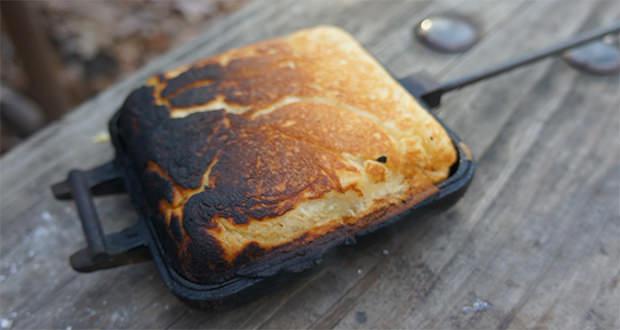 Pie Iron Recipes Camping  Pie Iron Breakfast Ham Omelet 50 Campfires
