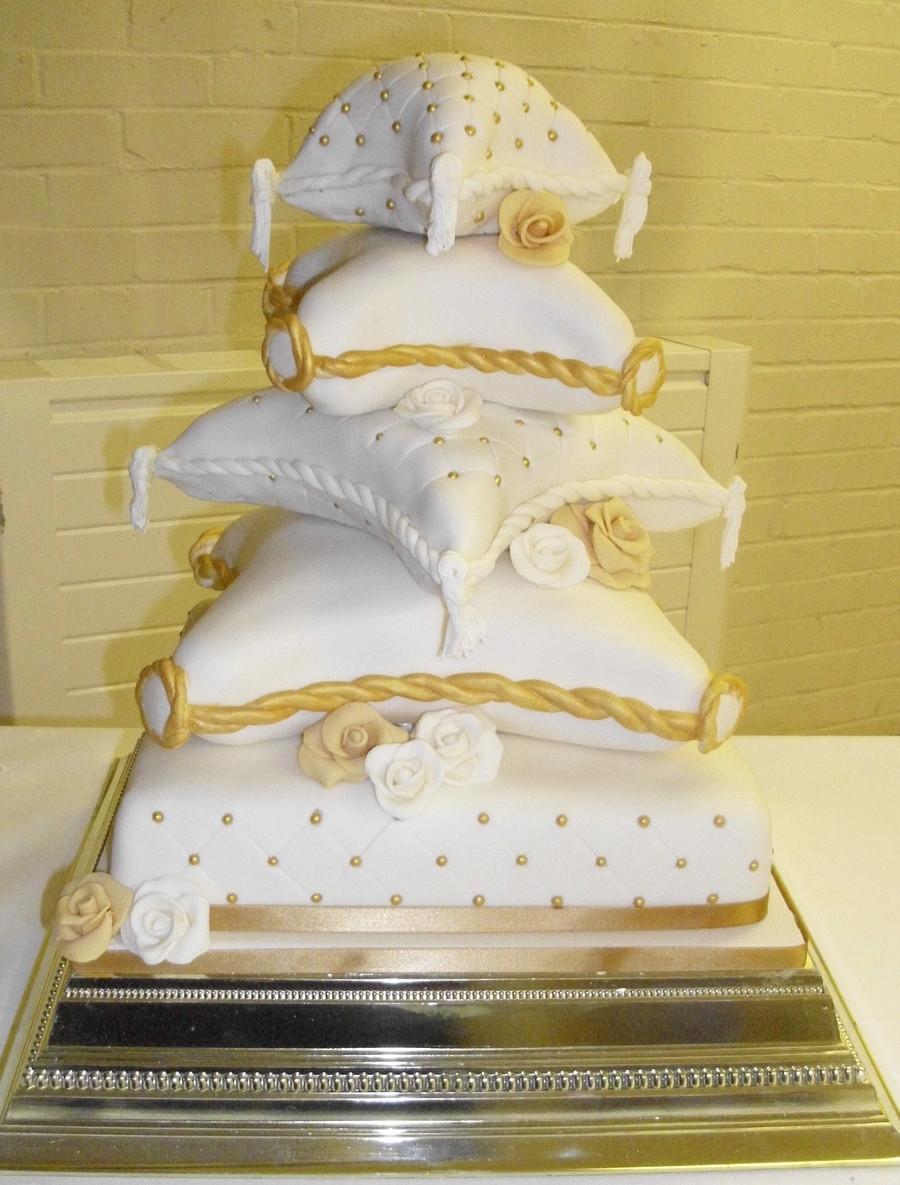 Pillow Wedding Cakes  5 Tier Pillow Cake CakeCentral