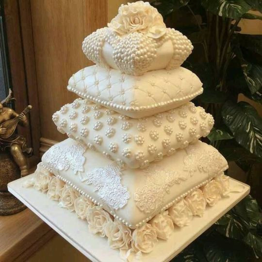 Pillow Wedding Cakes  My pillow cakes cake by Liz Sheridan CakesDecor