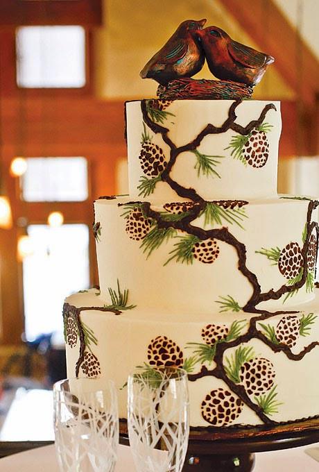 Pine Cone Wedding Cakes  Pine Cone Wedding Lots of love Susan