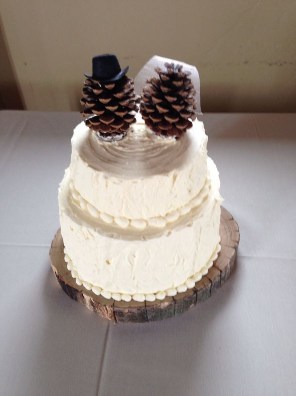 Pine Cone Wedding Cakes  Pinecone Cake Topper