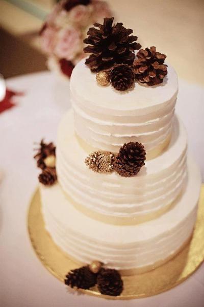 Pine Cone Wedding Cakes  Pine Wedding cakes and Pine cones on Pinterest