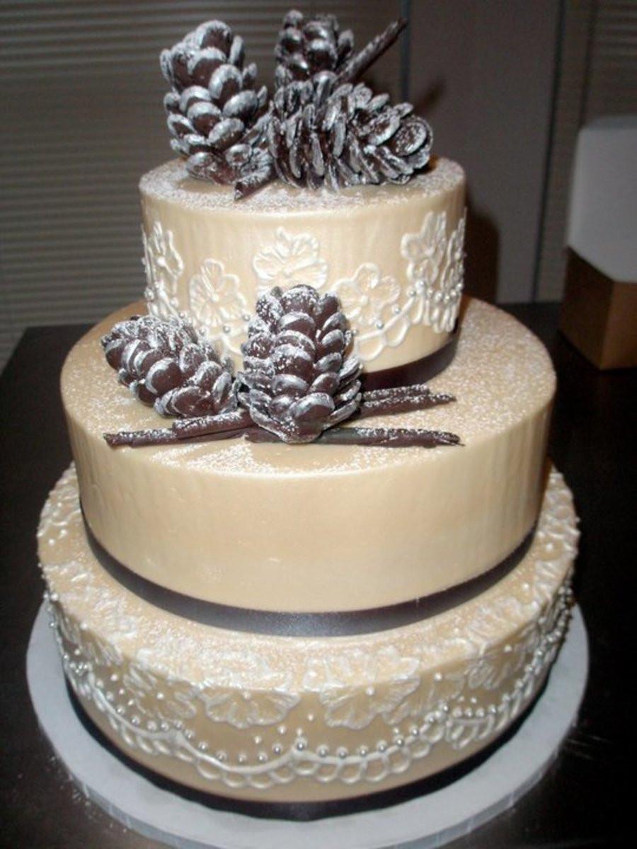 Pine Cone Wedding Cakes  Winter Pinecone Cake CakeCentral