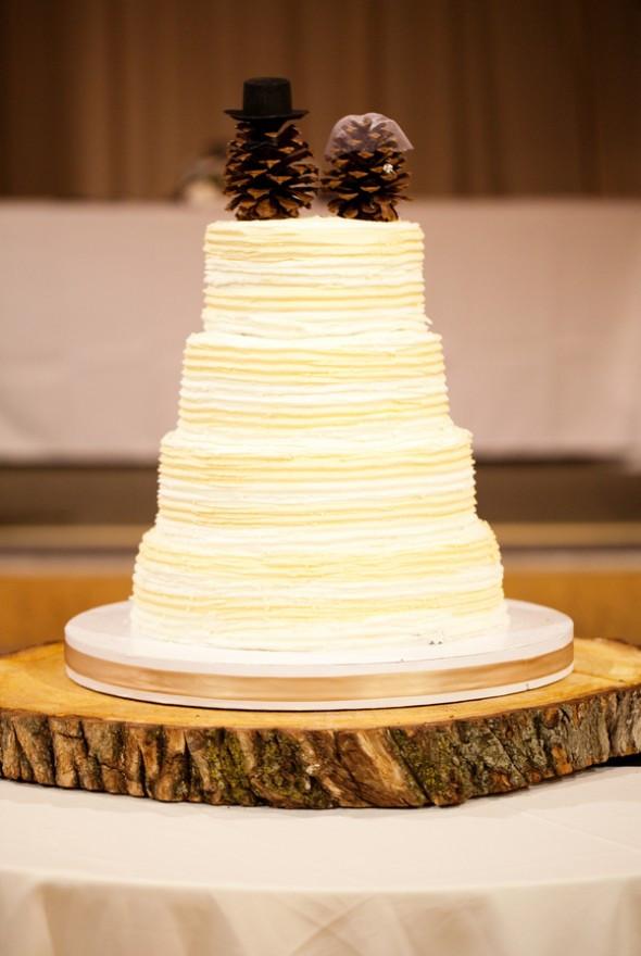 Pine Cone Wedding Cakes  West Virginia Rustic Style Wedding Rustic Wedding Chic