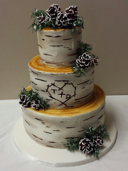Pine Cone Wedding Cakes  Miss Sara s Cakery Hastings MN Wedding Cake