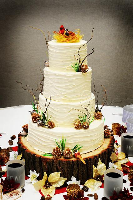 Pine Cone Wedding Cakes  Winter Wedding Cake