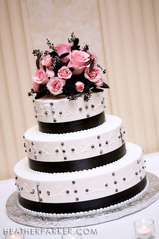 Pink And Black Wedding Cakes  Black white and pink wedding cakes idea in 2017