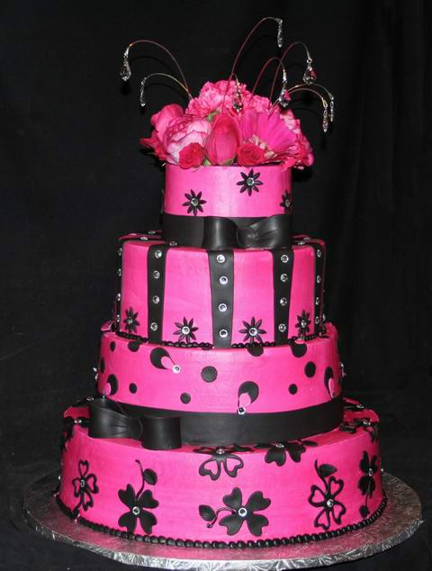 Pink And Black Wedding Cakes  It's All About The Pink – Pink Wedding Cakes That Is