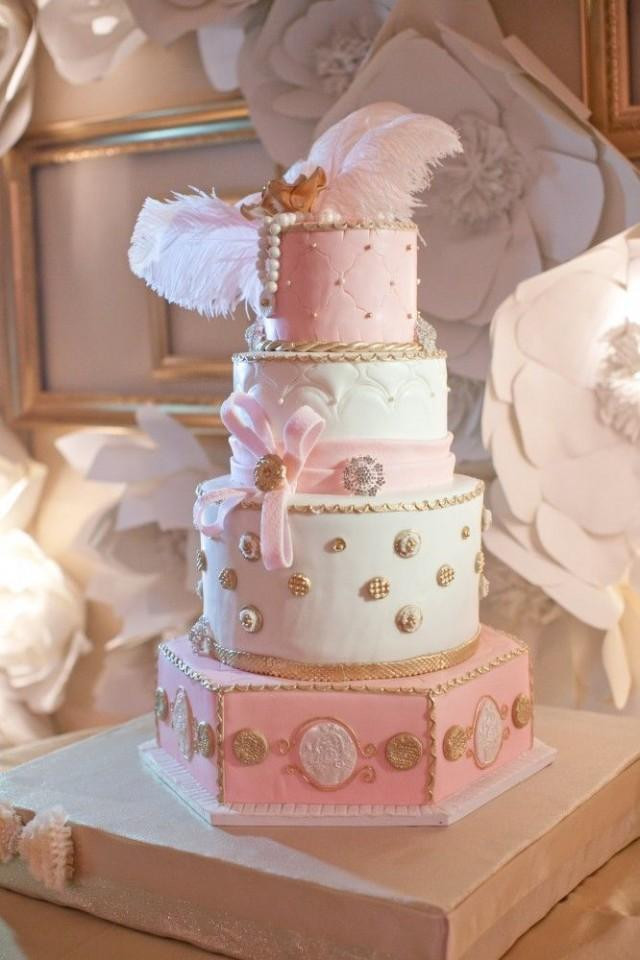 Pink And Gold Wedding Cakes  Cake Pink And Gold Wedding Cakes Weddbook