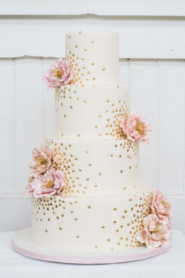 Pink And Gold Wedding Cakes  Top 22 Glittery Gold Wedding Cakes For 2016 Trends