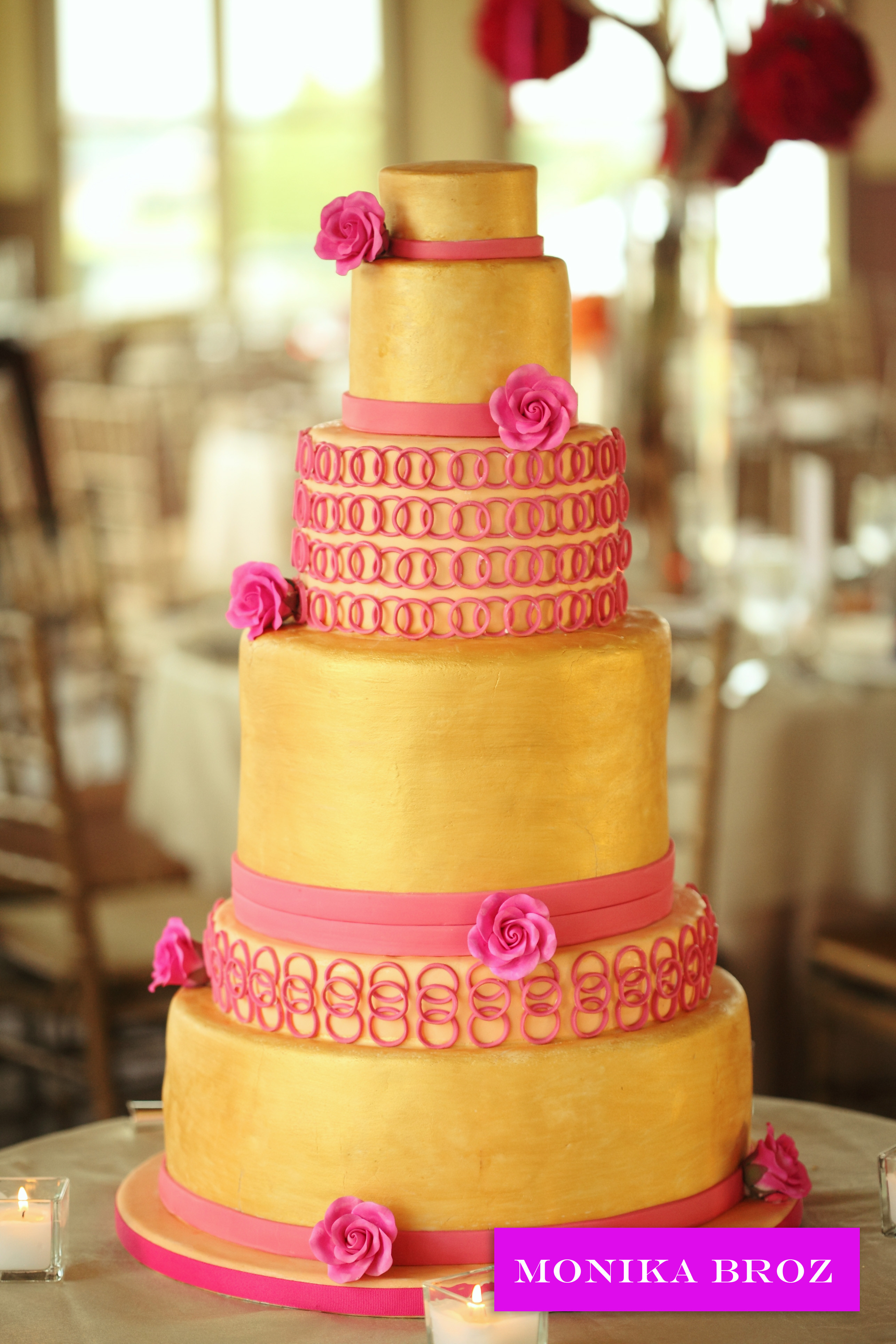 Pink And Gold Wedding Cakes  FROM KENTE TO PALETTES PINK YELLOW INSPIRATION BOARD