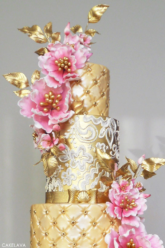 Pink And Gold Wedding Cakes  Pink Week Gold & Pink