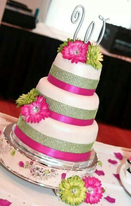 Pink And Green Wedding Cakes  8 best Antonia Wedding images on Pinterest