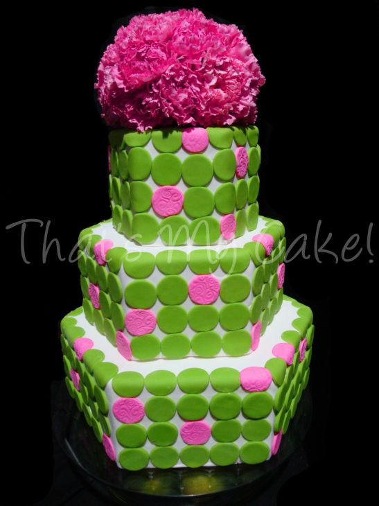 Pink And Green Wedding Cakes  Wedding Ideas Bright Pink and Lime Green Wedding
