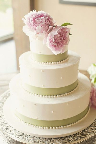Pink And Green Wedding Cakes  pink and green wedding cake wedding cakes Juxtapost