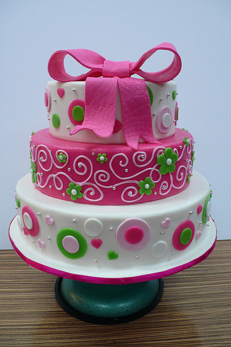 Pink And Green Wedding Cakes  Wedding Cakes Green and Pink Wedding Cakes