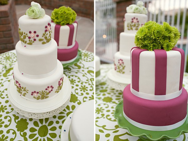 Pink And Green Wedding Cakes  Wedding Cakes Pink and Green Wedding Cakes