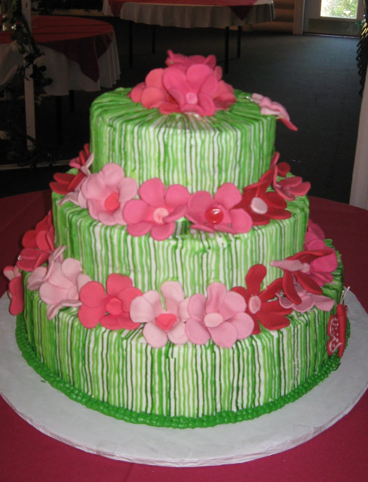 Pink And Green Wedding Cakes  ChubbyHubbyCakes Pink and green wedding cake