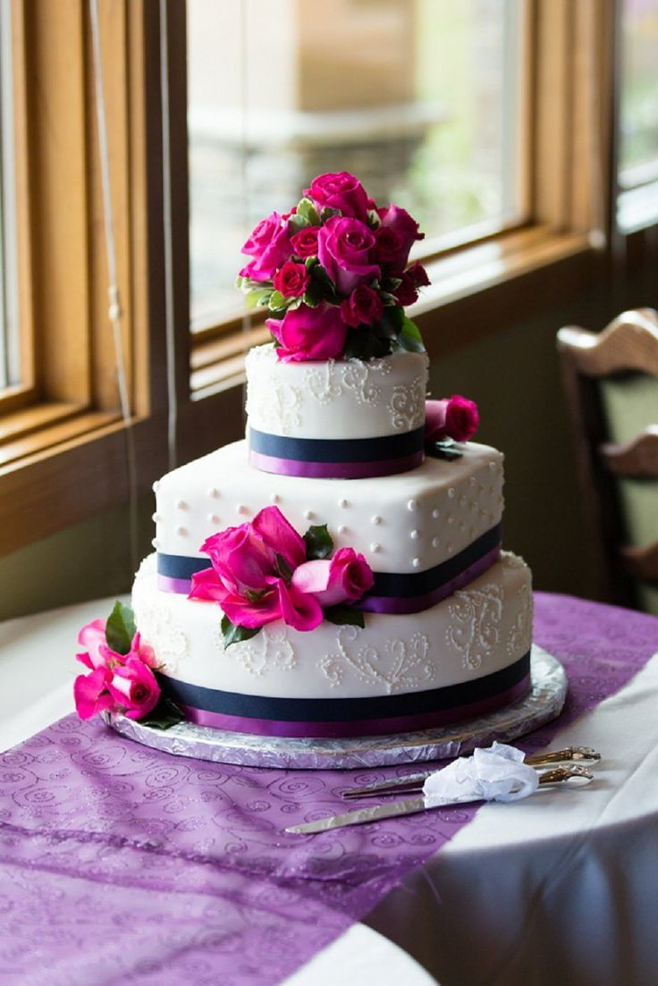 Pink And Purple Wedding Cakes  pink purple wedding cake do it yourself