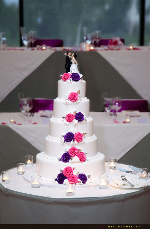 Pink And Purple Wedding Cakes  Mique s blog Angie and Tim 39s Italian themed Carillon