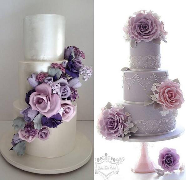 Pink And Purple Wedding Cakes  Purple Lilac & Lavender Wedding Cakes – Cake Geek Magazine