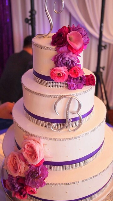 Pink And Purple Wedding Cakes  241 best images about Purple Pink Blue Wedding on