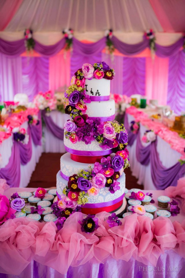 Pink And Purple Wedding Cakes  301 Moved Permanently