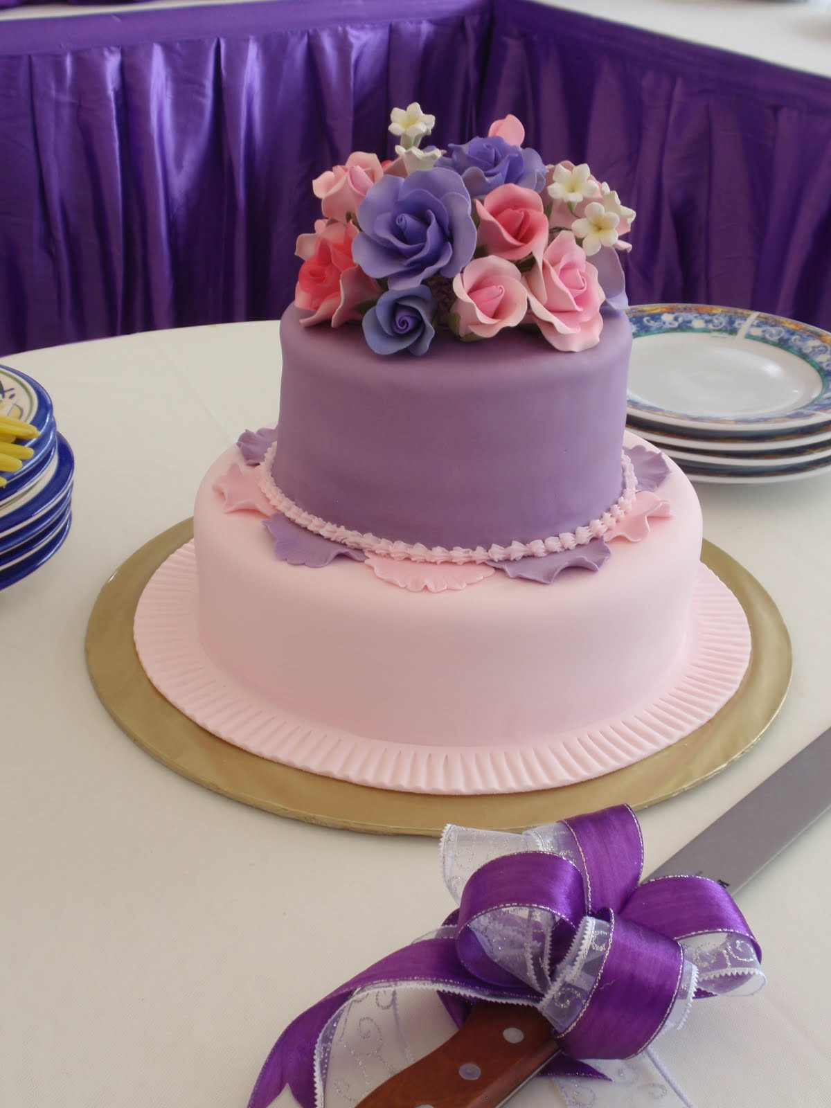 Pink And Purple Wedding Cakes  JUZCAKES Purple Pink Wedding Cake