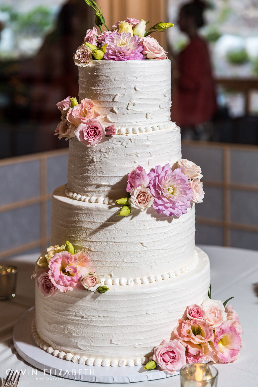Pink And Purple Wedding Cakes  Japanese Friendship Garden Wedding