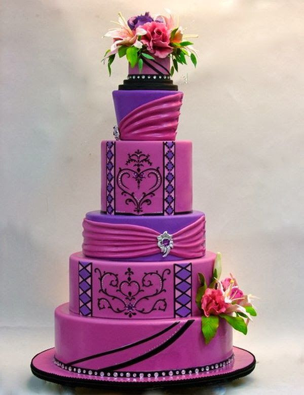 Pink And Purple Wedding Cakes  Southern Blue Celebrations Purple Wedding Cake Ideas