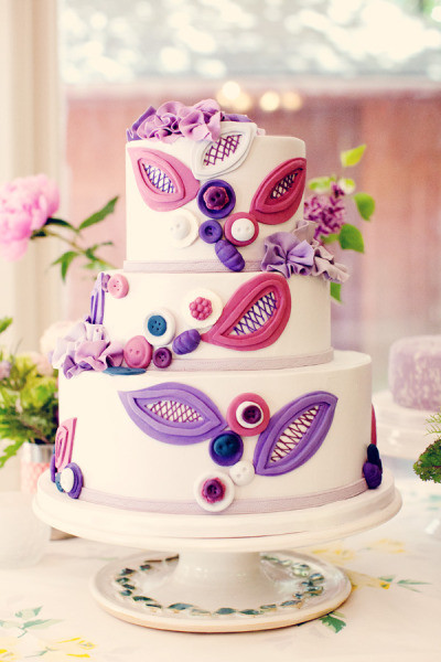 Pink And Purple Wedding Cakes  Wedding Cakes Purple and Pink Wedding Cake