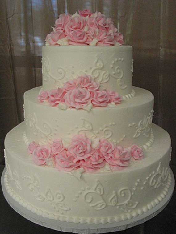 Pink And White Wedding Cakes  Goes Wedding 25 Wedding Cakes Decoration Ideas by Vicki