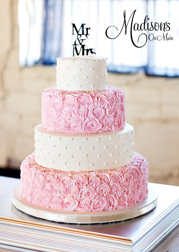 Pink And White Wedding Cakes  28 Inspirational Pink Wedding Cake Ideas