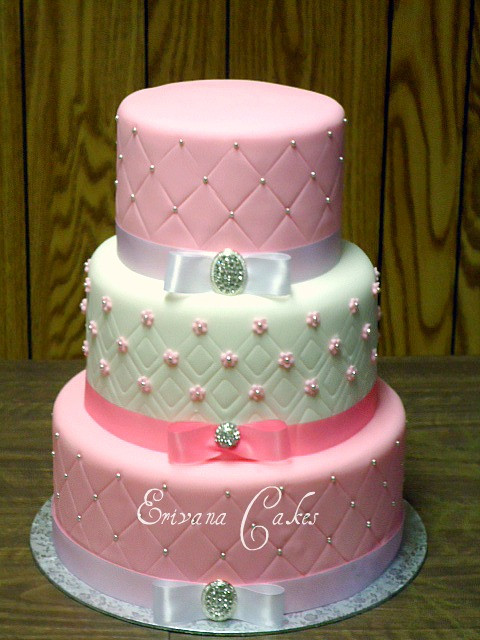 Pink And White Wedding Cakes  Gallery Erivana Cakes