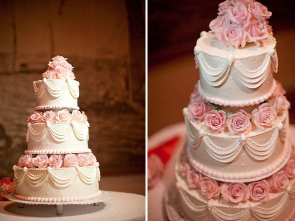 Pink And White Wedding Cakes  Destination Wedding in Waikiki Hawaii The Destination