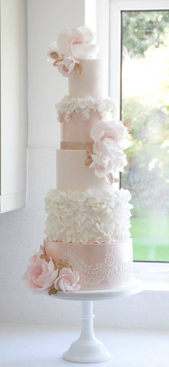 Pink And White Wedding Cakes  Best 25 Pink wedding cakes ideas on Pinterest
