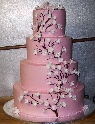 Pink And White Wedding Cakes  Pink Wedding Cakes Pink Wedding Cakes