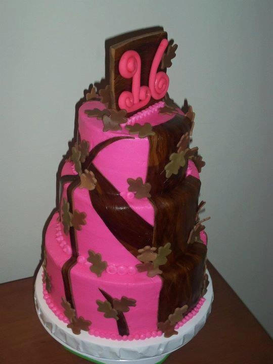 Pink Camouflage Wedding Cakes  Pink Camo Cake Party Ideas Pinterest