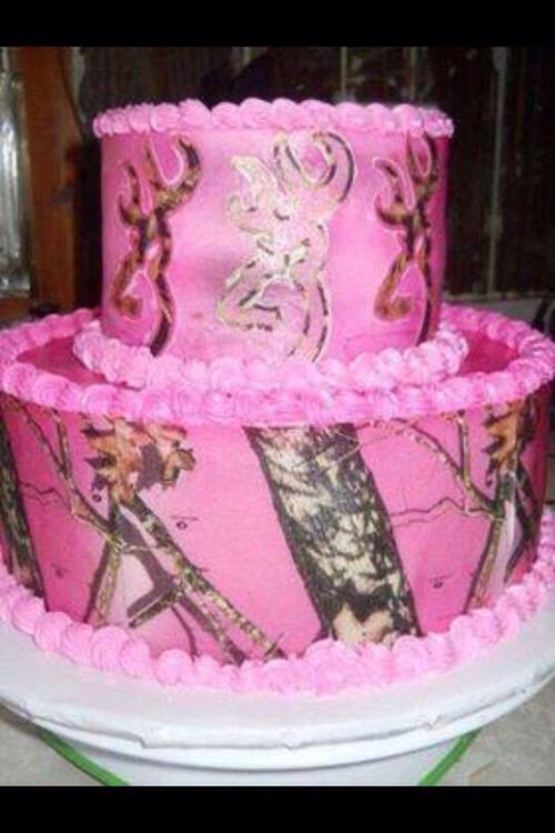 Pink Camouflage Wedding Cakes  Pink camo browning cake Cakes Pinterest