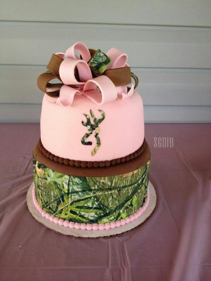 Pink Camouflage Wedding Cakes  Pink camo browning Maybe my wedding cake