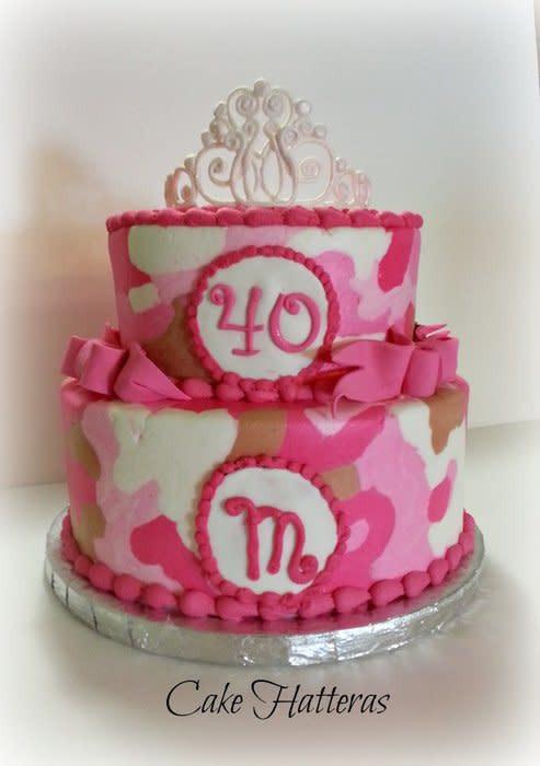 Pink Camouflage Wedding Cakes  Pink Camo Cake Cake by Donna Tokazowski Cake Hatteras