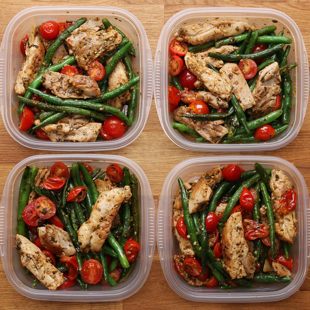 Pinterest Healthy Dinners  Weekday Meal prep Pesto Chicken & Veggies Recipe by Tasty