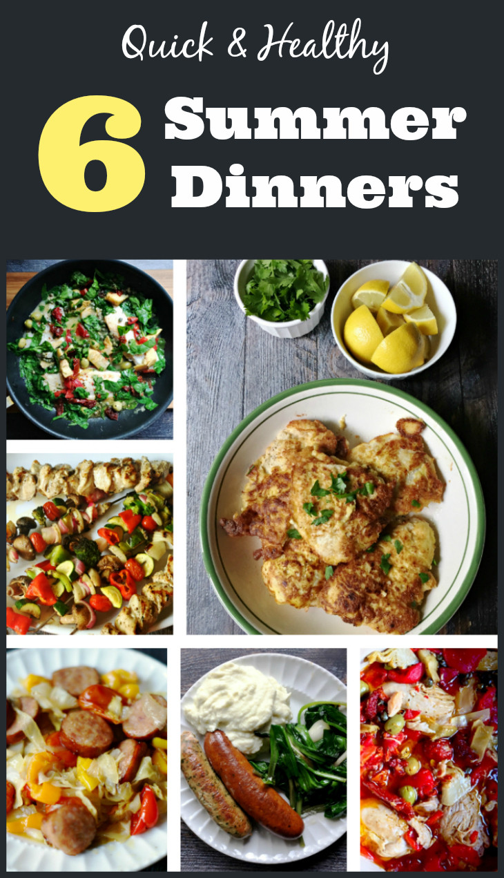 Pinterest Healthy Dinners  6 Quick & Healthy Summer Dinners