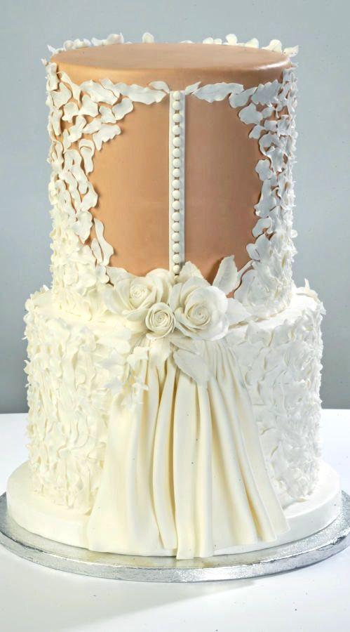 Pinterest Wedding Cakes  17 Best ideas about Dress Cake on Pinterest
